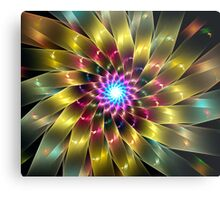 Ribbon Flower Metal Print