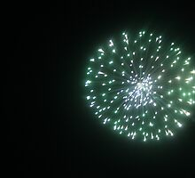 Single Green Firework by Marella May Rogerson