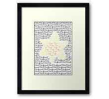 Flower Text Framed Print