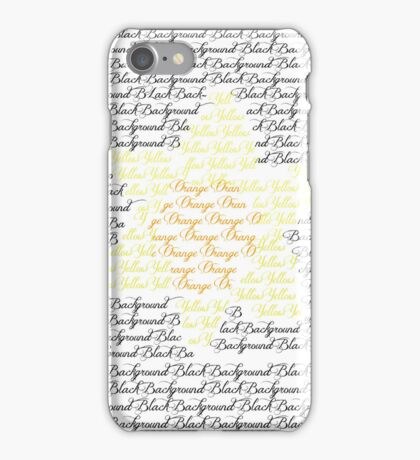 Flower Text iPhone Case/Skin