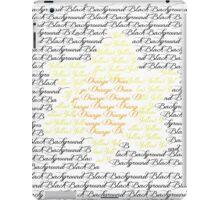 Flower Text iPad Case/Skin