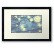 "Van Gogh ""Starry Night"" Doctor Who (pastel version) Framed Print"