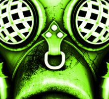 Steampunk / Cyberpunk Gas Mask #1E Sticker