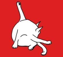 Cat washing bottom T-Shirt