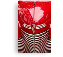 red chevy car abstract Canvas Print