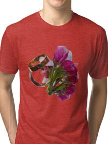 Golden Rings and Spring Flowers Tri-blend T-Shirt