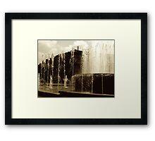 Water Jets Framed Print