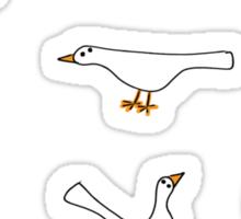 White Birds Sticker