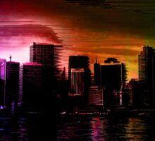 Glitchy City [Multicolor Version] Sticker