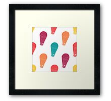 Pattern with hot air balloons Framed Print