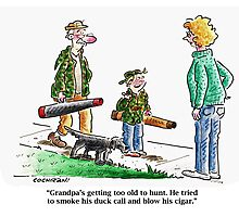 Cartoon: Grandpa's too old... Photographic Print