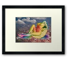 Sitting on a cornflake Framed Print