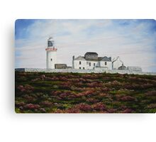 Loop Head Lighthouse, County Clare - oil painting Canvas Print