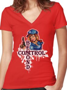Yankee Babe Beyond Control Women's Fitted V-Neck T-Shirt
