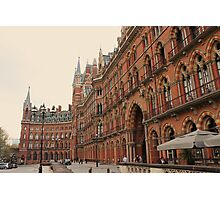 St Pancras Station Hotel 2 Photographic Print