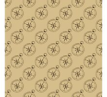 Pattern with compasses Photographic Print