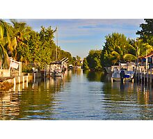Key Largo Canal 2 Photographic Print