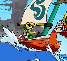 """Cell shaded """"The Wind Waker"""" by Lazard"""