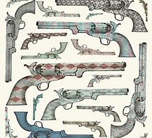 Happy Vintage Pistols by Paula Belle Flores
