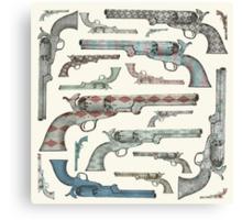 Happy Vintage Pistols Canvas Print