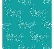 Pattern with hand drawn airplanes Photographic Print