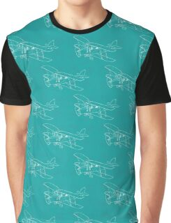 Pattern with hand drawn airplanes Graphic T-Shirt