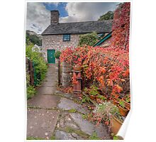 Path To Autumn Cottage Poster