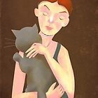 GIRL WITH HER CAT by beatipossidenti