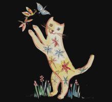 Cat with Butterflies One Piece - Short Sleeve