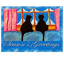 """Kitties Watching For Santa"" Photographic Print"