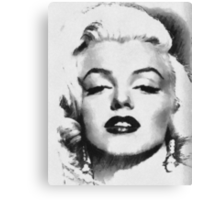 Marilyn -Grayscale  Canvas Print
