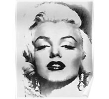 Marilyn -Grayscale  Poster