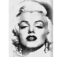 Marilyn -Grayscale  Photographic Print