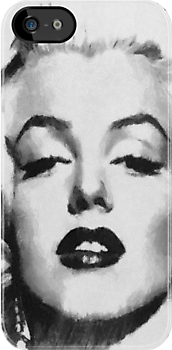 Marilyn -Grayscale  by leapdaybride