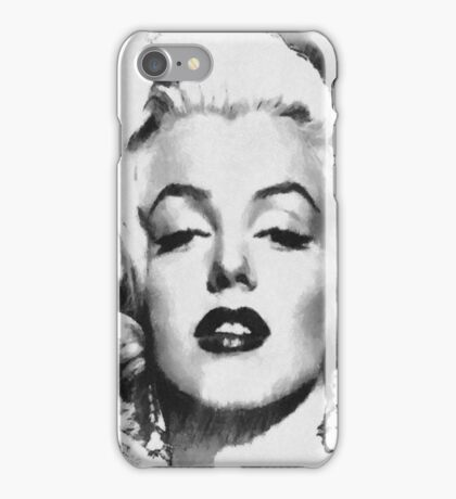 Marilyn -Grayscale  iPhone Case/Skin