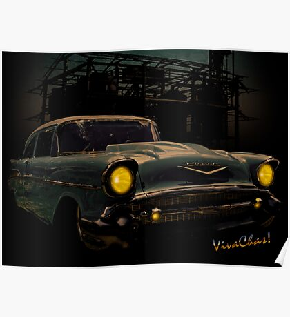 57 Chevy Street Rod Poster