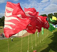 Olympic Flag Flames by NiallMcC