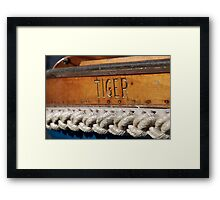 Tiger name on boat Salcombe, Devon, UK Framed Print