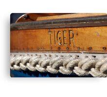 Tiger name on boat Salcombe, Devon, UK Canvas Print