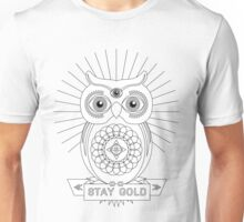 Stay Gold, Mr. Owl Unisex T-Shirt