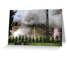 15.11.2012: Fireman at Work I Greeting Card