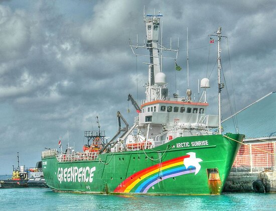 """The """"Artic Sunrise"""" docked at Prince George Wharf in Nassau Harbour, The Bahamas by 242Digital"""
