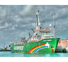 """The """"Artic Sunrise"""" docked at Prince George Wharf in Nassau Harbour, The Bahamas Photographic Print"""
