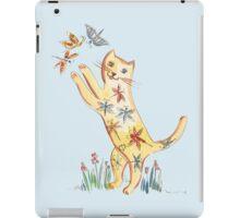 Cat with Butterflies iPad Case/Skin