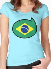 Brazil Soccer / Football Fan Shirt / Sticker Women's Fitted Scoop T-Shirt
