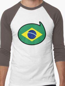 Brazil Soccer / Football Fan Shirt / Sticker Men's Baseball ¾ T-Shirt
