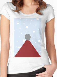 Santa Hat Women's Fitted Scoop T-Shirt