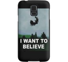 I Want To Believe (Santa) Samsung Galaxy Case/Skin