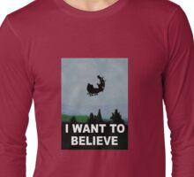 I Want To Believe (Santa) Long Sleeve T-Shirt