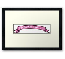 Hamilton Trash Ribbon Framed Print